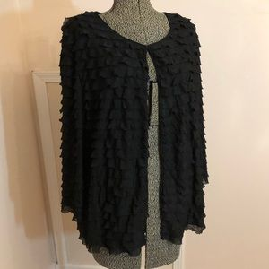Black Laura Ashley Textured Cardigan